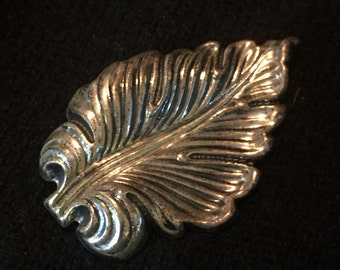 Vintage Sterling Leaf Pin by Jewel Art