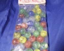 Unique Cats Eye Marbles Related Items Etsy