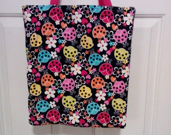 Ladybugs grocery shopping bag