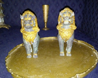 Gold Accent Guardian Foo Dogs