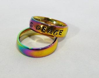 Peace Rainbow Ring -