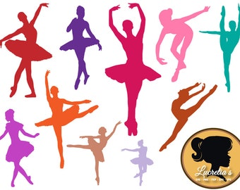 Dancer, Ballet, Modern Dance, Clipart, SVG, Vector, ai,png, eps, png, dxf, Template,Overlays, Silhouettes