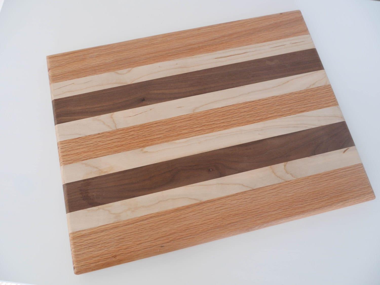 Cutting Board Walnut Maple Oak