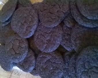 Dark Chocolate Sugar Cookies, Freshly Made, Home Baked