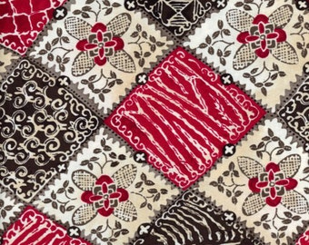 """Maya Geometric Patches Floral by Quilting Treasures 100% cotton Fabric By the Yard 36""""x43"""" (P63)"""