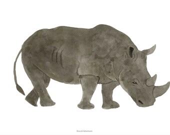 Rhino, A4 print