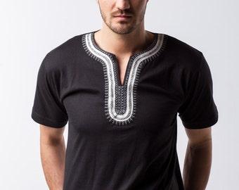 BINOAR-silver shirt black