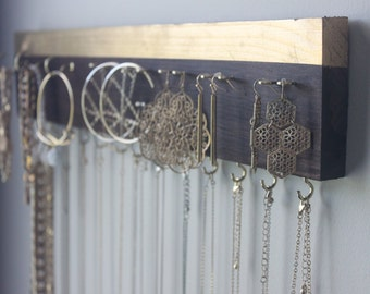 Solid Wood Jewelry Hanger
