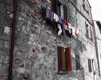 Montalcino, Italy - B&W