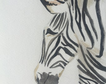 Blade of Zebra in watercolor
