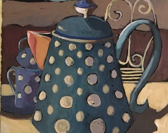 Dotted Blue Pitcher