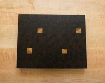Walnut Cutting Board with Hickory Squares