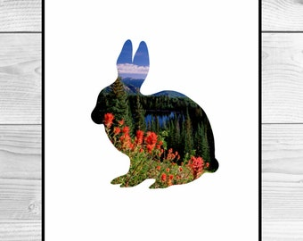 Nursery Art Print - Rabbit