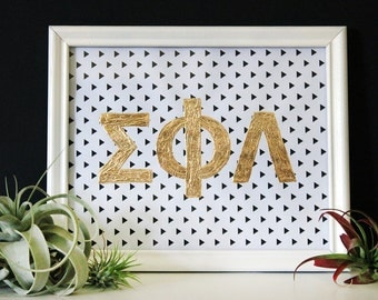 Genuine Hand-Foiled Metal Customizable Sorority Letters