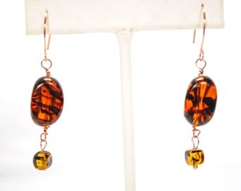 Tiger Glass Earring