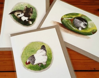 Cards featuring Pepperpot illustrations