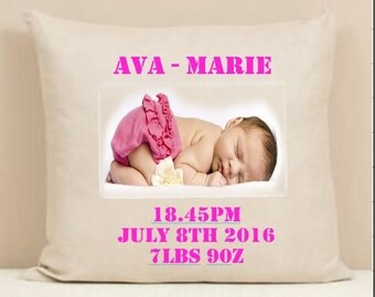 New baby personalized cushion