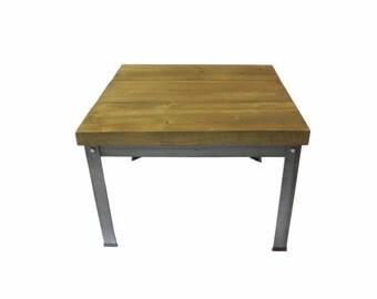 Small Coffee Table  (Oak/Steel)