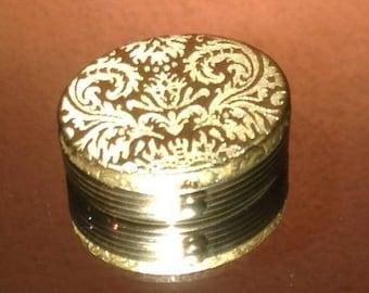 On Sale Avon Brocade Pill Box