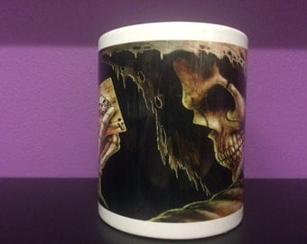Gothic Death Character With Playing Cards Coffee / Tea Mug