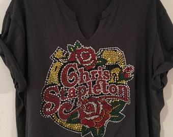 Chris Stapleton Rhinestone Encrusted Shirt.  (Similiar to the one worn by Miranda Lambert)