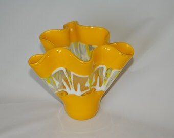 Sunflower Yellow Kiln Formed Vase