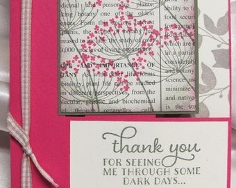 Home Made Thank You Card