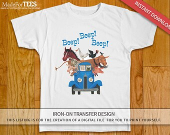 Little Blue Truck Iron On Transfer Shirt