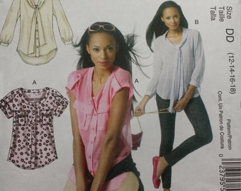 McCalls 6512 Shirt Sewing Pattern 12-18