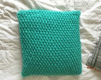 Handmade Moss Stitch Cushion (Prototype)