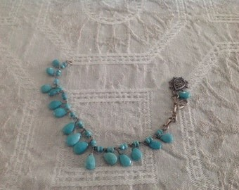 Azza Fahmy Bracelet Turquoise and Silver