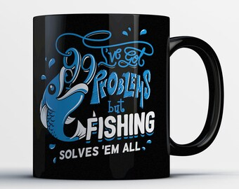 Fish Lover Gifts - Fishing Mug - Funny Fishing Coffee Mug - Fishing Gifts for Him - Dad Gifts