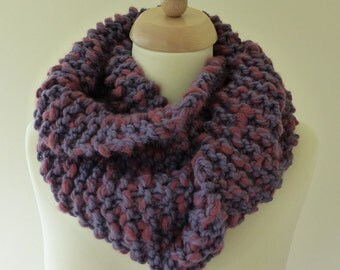 Hand Knitted Chunky Circular Scarf / Cowl