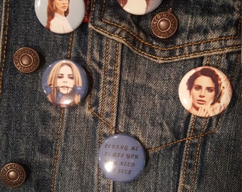 Lana Del Rey Buttons, Pins,Magnets, 1.25inch, high quality
