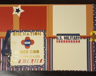 4th of July Military Scrapbook Pages