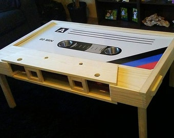 Retro Cassette Tape Table with storage