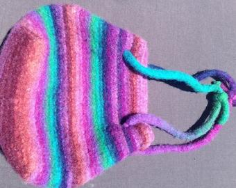 Crotchet hand dyed felt