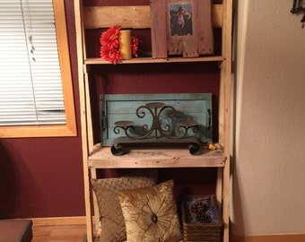 Rustic Pallet Ladder Bookcase Free Local Delivery