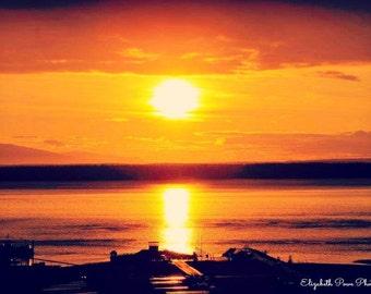 Alaskan Sunset 4x6 Print