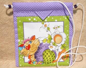 Cross Body Bag, Perfect Gift For Cat Lover!  Snap Bag,  Purse, Novelty, Handmade, Shoulder Bag