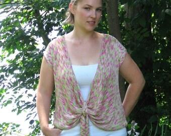 Designer knitwear sample sell off: Tie Front Top OOAK