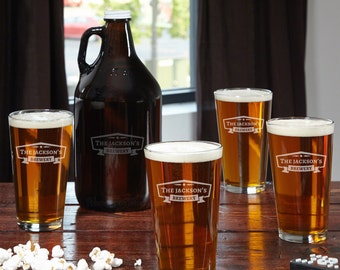 Custom Engraved Pint Glasses, Personalized Pint Glasses, Custom glasses, Groomsmen Gift, Personalized Beer Glasses, Gifts for him, Pint