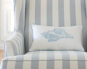 Shell Cushion Cover - Sky Blue
