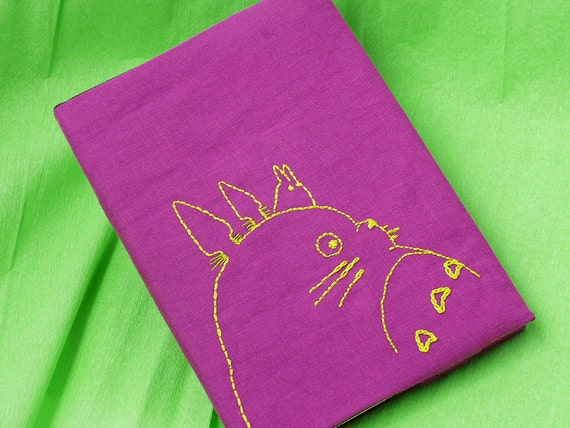 Book Cover Material Zip : Totoro book cover fabric notebook journal