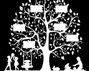 Silhouette family tree can custom to say anything.