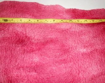 Ruby Red Hand dyed Handmade Merino wool felt fabric, felt material