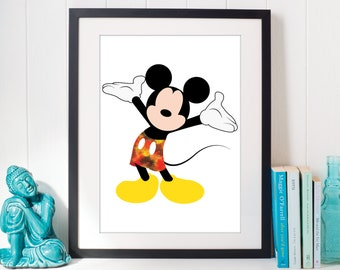 Mickey with a dash of paint Print