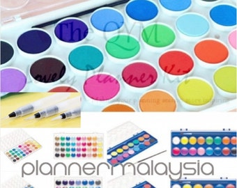 Preorder Watercolor Paints Pallets ( Cover can be used as mixing trays )