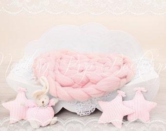 Newborn Digital Backdrop (cloud/pink)
