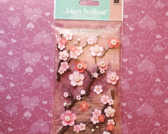 Cherry blossom scrapbook stickers by Jolee's Boutique
